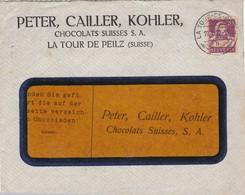 Chocolats PETER CAILLER KOHLER. LA TOUR-DE-PEILZ 1922 - Suisse