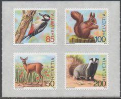 SWITZERLAND, 2018, MNH, FAUNA, ANIMALS OF THE FOREST, BIRDS, SQUIRRELS, DEER, 4v - Birds