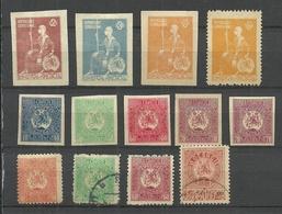 GEORGIEN Georgia 1919/20 Lot Old Stamps Mint & Used - Géorgie