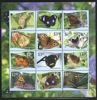 "Tonga Niuafo'OU     ""Butterflies""     Sheet Of 12  (with Light Blue Background)        SC# 287  MNH - Butterflies"