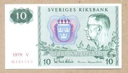 Sweden 10 Kronor 1979  P52d  UNC - Suecia