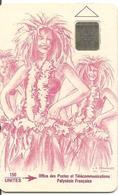 CARTE-PUCE-POLYNESIE-PF9a -SC4-150U-0U-VAHINE FUSHIA--V° -5GE-N°40322-UTILISEE-TBE- - French Polynesia