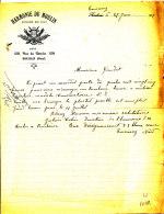 FA 980 -  FACTURE -   HARMONIE DU MOULIN  ROUBAIX  NORD - France