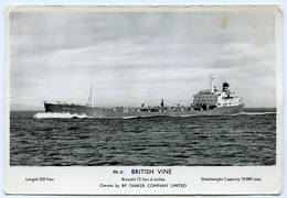 BP TANKER : M.V. BRITISH VINE - Cargos