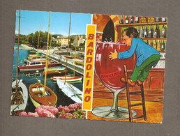 BARDOLINO LAGO DI GARDA  BICCHIERE  CARTOLINA VIAGGIATA 1983 - Altre Città