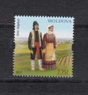 Moldova Moldawien 2017 MNH ** Mi. Nr. 1010 Taditional Gagauz Costumes - Moldawien (Moldau)