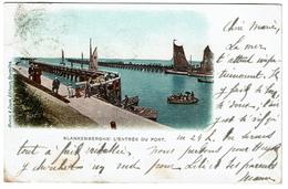 Blankenberghe - L'entrée Du Port - 1902 - Edit. Mumm & Zaum - 2 Scans - Blankenberge