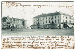 Nieuport-Bains - Hôtel Des Bains Et Prévost - 1902 - Edit. Th. Van Den Heuvel - 2 Scans - Nieuwpoort