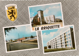 Cpsm 59 LA BRIQUETTE (lieu-dit) VALENCIENNES / MARLY-lez-VALENCIENNES  Multivues Et Blason Du Hainaut , Peu Courante - Otros Municipios