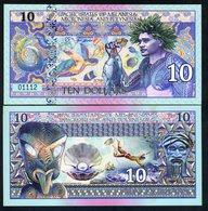 Pacific States Of Melanesia Micronesia Polynesia, $10 Private Issue Polymer - Fisherman, Sea Turtle, Diver - Billets