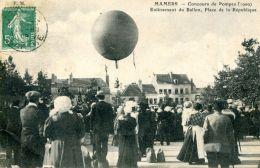 N°62365 -cpa Mamers -concours De Pompes- Enlèvement Du Ballon- - Mamers
