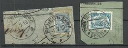 Estland Estonia 1910 & 1932 Tartu Jurjev Cancels - Occupation 1938-45