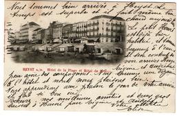 Heyst S/M. Hôtel De La Plage Et Hôtel De Bruges - 1901 - Edit. Jules Nahrath - 2 Scans - Heist