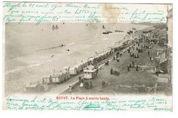 Heyst - La Plage à Marée Haute - 1900 -  2 Scans - Heist