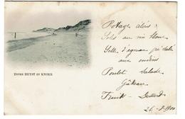 Entre Heyst Et Knoke - 1900 -  2 Scans - Heist