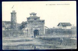 Cpa Du Viet Nam -- Tonkin -- Bac Ninh Entrée De La Citadelle Avril18-26 - Vietnam