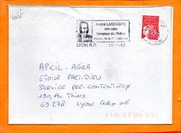RHONE, Lyon, Flamme SCOTEM N° 19126, André Lassagne, Sénateur Du Rhône - Marcophilie (Lettres)