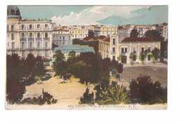 Tunisie Tunis Place De La Gare Française Cpa Carte Couleur - Tunesien