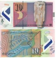 MACEDONIA. NEW.  10 & 50   2 Notes Polimer   Pnew.   2018  UNC. - Macedonia