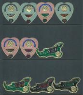 Tonga 1971 Queen Salote Memorial Overprint Self Adhesive Postage & Air Sets (10) Mint - Tonga (1970-...)