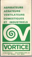 Publicité VORTICEL Avec Carte De France à L'intérieur - Advertising