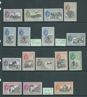 """Sierra Leone 1956 QEII Definitive Set Of 12 + """"a"""" Numbers & Extra Shade Fresh Mint , 2 With Small Spots - Sierra Leone (...-1960)"""