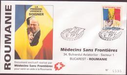 ENVELOPPE TIMBRE  N° 1990 BUCURESTI  MEDECIN S/ FRONTIERES  BUCAREST VOIR PHOTO - FDC