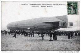 LUNEVILLE < Le ZEPPELIN N°16 Atterrit Au Champ De Mars (3/04/1913) KOLOSSAL Erreur ! - Dirigibili