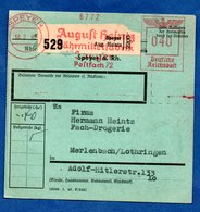 Allemagne  - Colis Postal Départ Speyer  -  18/2/1943 - Storia Postale