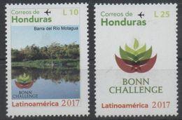 HONDURAS , 2017, MNH, BONN CHALLENGE, RESTORATION OF ENVIRONMENT, RIVERS, 2v - Environment & Climate Protection