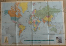 Carte De La Première édition Du Vendée Globe  Globe Challenge1989/1990 - Cartes Marines