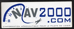 NAV 2000 INFORMATION AERONAUTIQUE * AVION *-  AUTOCOLLANT   N°2677 - Stickers