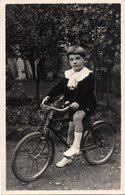 BAMBINA CON BICICLETA-VERA FOTO ANNI 40 ? - Ciclismo