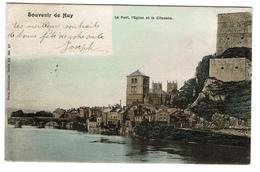 Souvenir De Huy - Le Pont, L'Eglise Et La Citadelle - 1901 - Edit. Nels 55/37 - 2 Scans - Huy