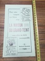 PUBLICITE 1935 LA MAISON DU GRAND TEINT PAPETERIE GUNTHER FONTAINE LES LUXEUIL BAKELITE - Collections