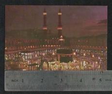 Saudi Arabia Picture Postcard Holy Mosque Ka'aba Mecca Night Scene View Card - Saudi Arabia