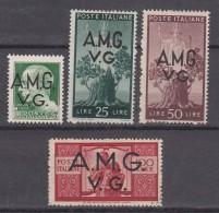Italy Trieste, Venezia Giulia A.M.G.-V.G. Sassone#12,19,20,21 Mint Hinged - 7. Triest