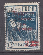 Fiume 1920 Carnaro, Sassone#132 Michel#2 Used - Fiume