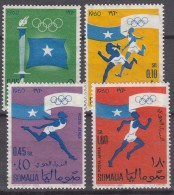 Somalia 1960 Olympic Games Mi#8-11 Mint Never Hinged - Somalie (1960-...)