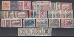 Hungary Banat Bacska Complete Colection Including Porto Stamps, All B Types (red Overprint) Included, Mint Hinged - Banat-Bacska