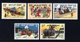 GB ISLE OF MAN IOM - 1990 EDWARDIAN POSTCARS SET (5V) FINE MNH ** SG 433-437 - Isle Of Man