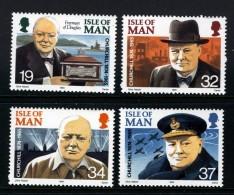 GB ISLE OF MAN IOM - 1990 CHURCHILL SET (4V) FINE MNH ** SG 455-458 - Isle Of Man
