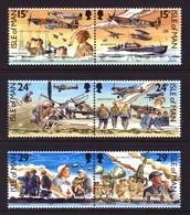 GB ISLE OF MAN IOM - 1990 BATTLE OF BRITAIN SET (6V) FINE MNH ** SG 449a, 451a, 453a - WW2