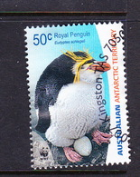 Australian Antarctic Territory S 169 2007 Royal Penguins,50c Eudiptes Schlegell,used, - Used Stamps