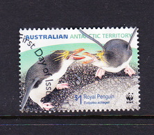 Australian Antarctic Territory S 172 2007 Royal Penguins,$ 1.00 Eudiptes Schlegell,birds Sparring,used - Australian Antarctic Territory (AAT)