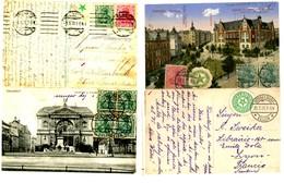 ALLEMAGNE LOT DE 2 CP 1920 AVEC VIGNETTE X 3 DIFFERENTES ESPERANTO - Marcophilie (Lettres)