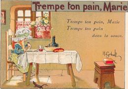 CHROMO Alcool De Menthe RICQLES  -  Trempe Ton Pain Marie. - BARA1  - - Autres