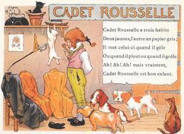 CHROMO Alcool De Menthe RICQLES   - CADET ROUSSELLE  - BARA1  - - Chromos