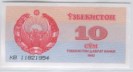 UZBEKISTAN 64 1992 10 Sum UNC - Uzbekistan