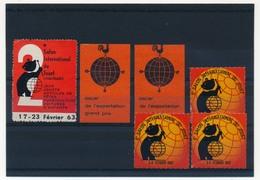 FRANCE - 6 Vignettes Salon Du Jouet LYON 1963 Et 1967 - Oscar Exportation - Commemorative Labels